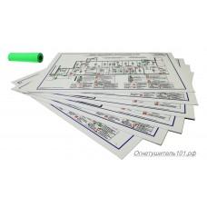 Печать А3 фотолюмисцентная пленка на пластике с макета Заказчика